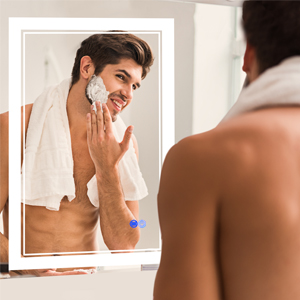 shower mirror fogless with light