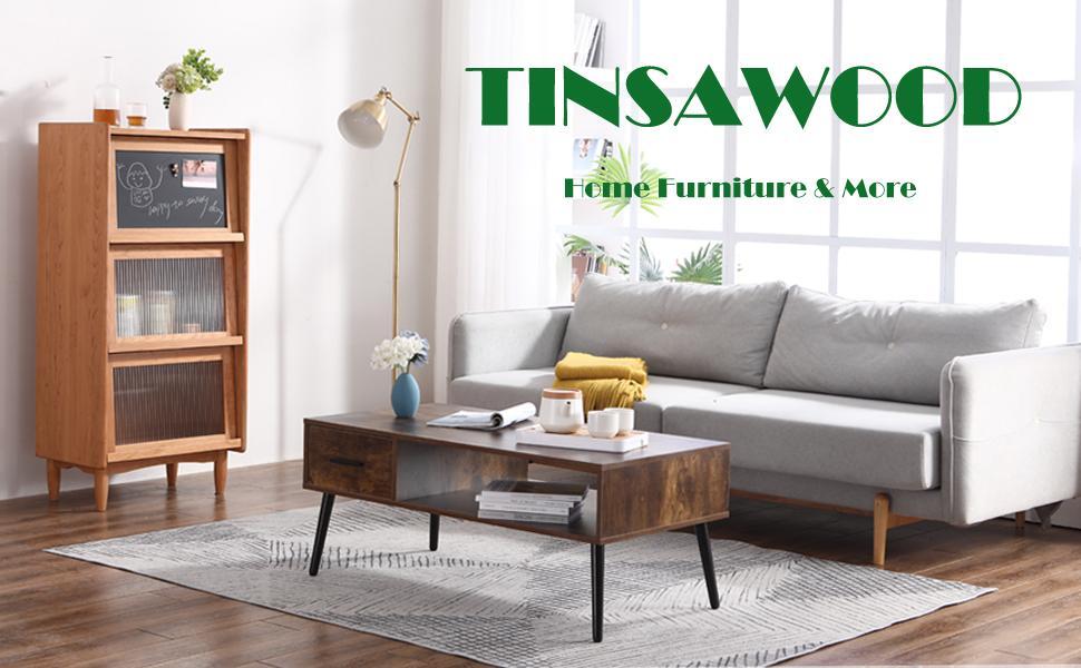 TINSAWOOD COFFEE TABLE COCKTAIL TABLE