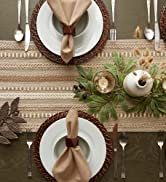 Brown everyday table setting