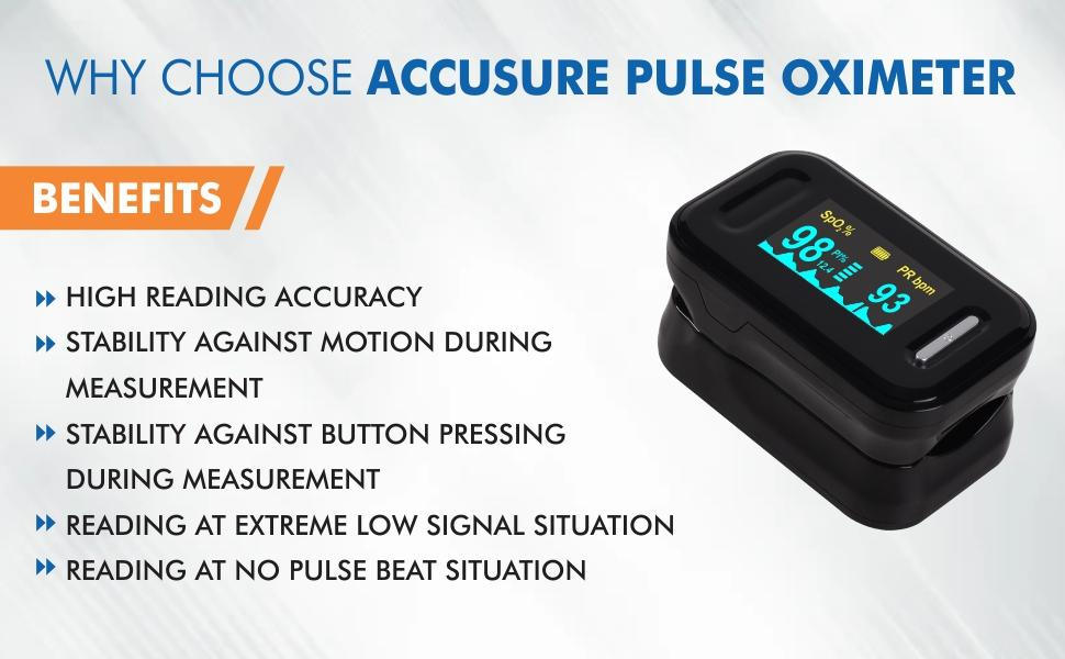 Why choose accusure pulse oximeter