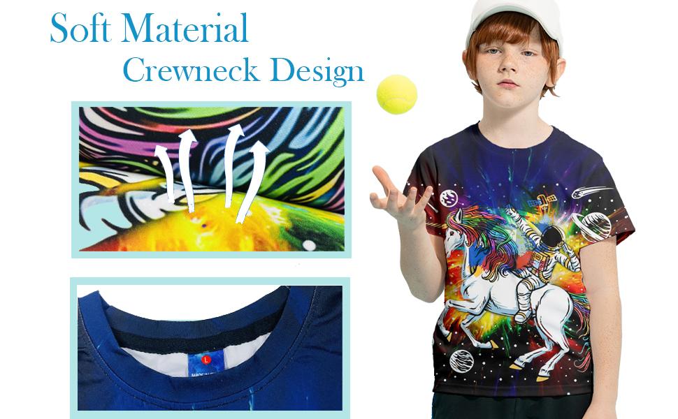 soft material and crew neck design