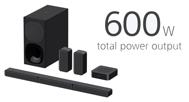 600W TOTAL POWER