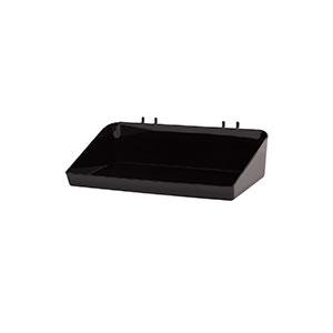 """12""""W x 6½""""D x 3""""H Black Plastic Tray"""