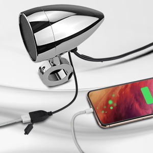 kemimoto motorcycle Bluetooth speakers USB charging port