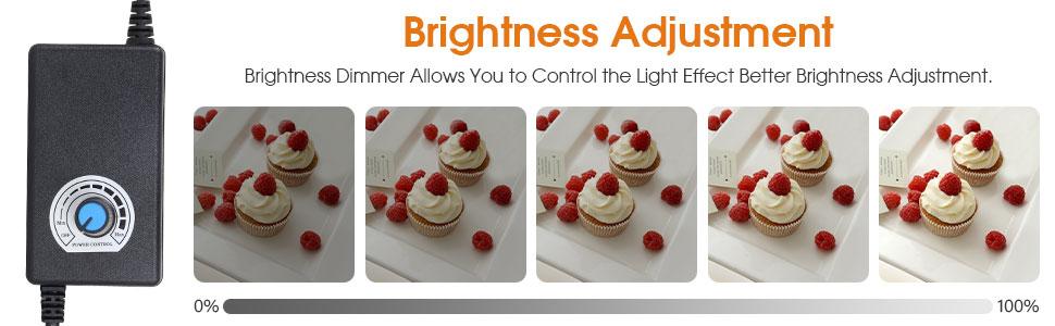 photo box with brightness adjustment