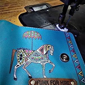 Horse Printed Loop Wallet under manufacturing