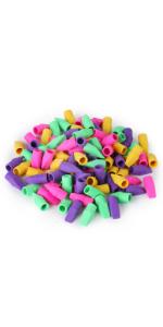 Pencil Top Erasers, Cap Erasers, 120 Pack