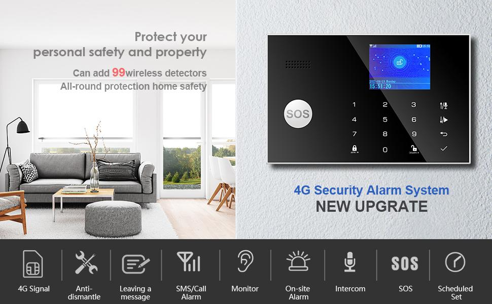 alarm system security home gsm wireless