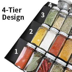 4 Tier Spice Organizer