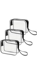 Clear Makeup Bag with handle 3 Pack