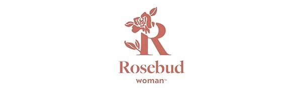 Rosebud woman logo