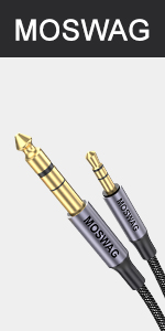 3.5mm to 6.35mm aux cable