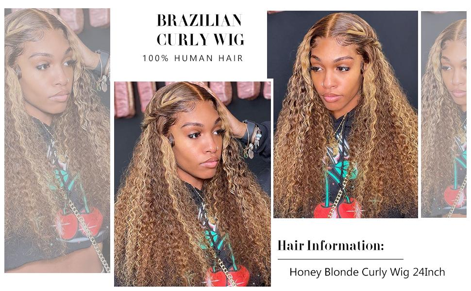 brazilian curly lace frontal human hair wig