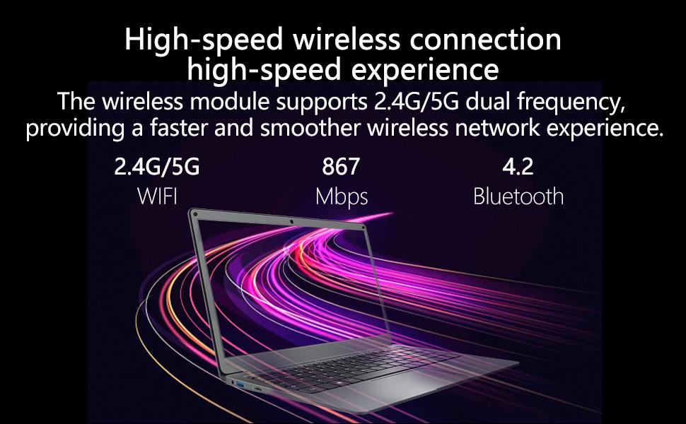 High-speed wireless laptop