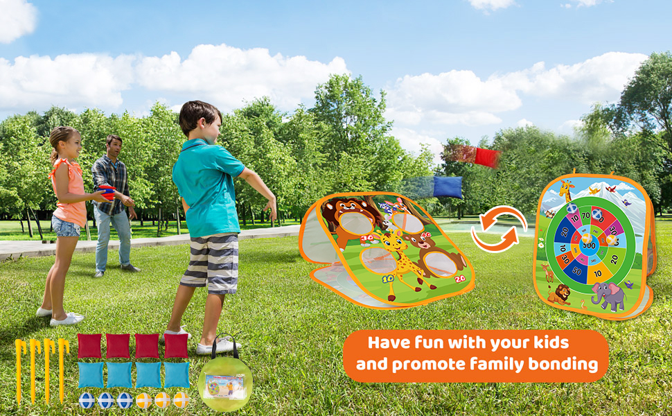 Bean Bag Toss Game Set for Kids Toddlers Have Fun with your kids and promote family boning