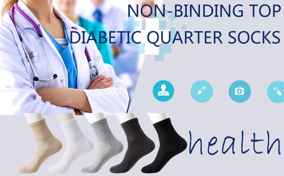 non-binding diabetci quarter socks
