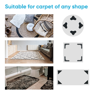 suitable for carpet of any shape