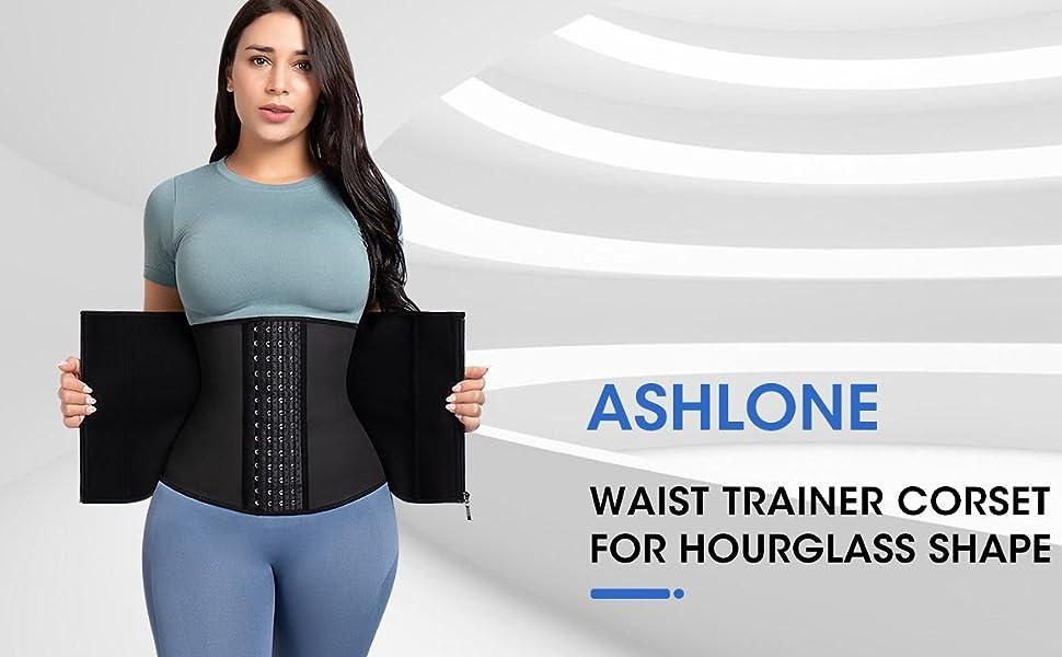 ashlone waist trainer corset girdle for hourglass shape weight loss