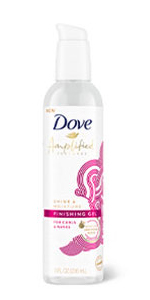 Dove Amplified Textures Shine amp;amp; Moisture Finishing Gel, 8 fl oz