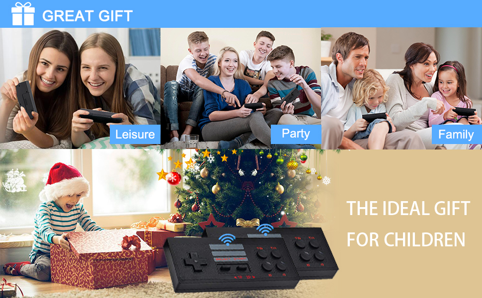"""kids game console retro game console plug and play video games plug """"n""""play tv games"""