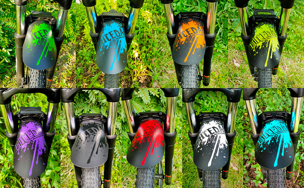 NICEDACK Bike Fender Cycling Mountain Mud Guards Mudguard Rear and Front Set MTB Bike Mudguard