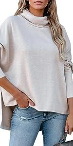 trutleneck sweatershirts batwing sleeve