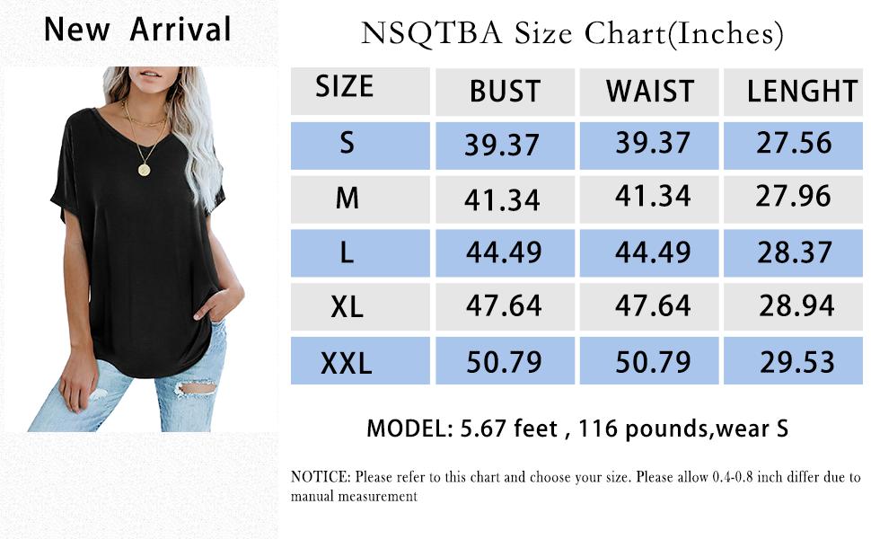NSQTBA Size Chart