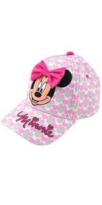 Minnie Mouse Cotton Baseball Cap with 3D Bow