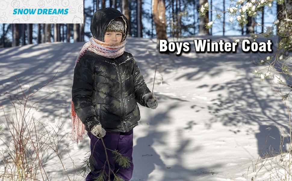 boys winter coat puffer jacket warn outerwear hoodie kids jacket fleece lined