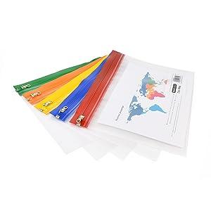 Pochette pour documents A4 A5 étanche, transparente, classable