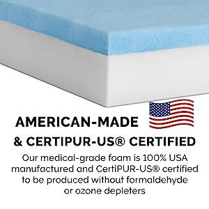 Foam Certification - Cooling Gel Foam