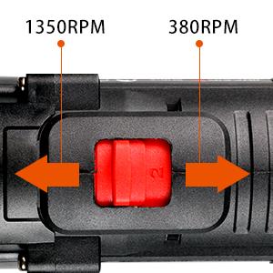 Two-speed speed regulation