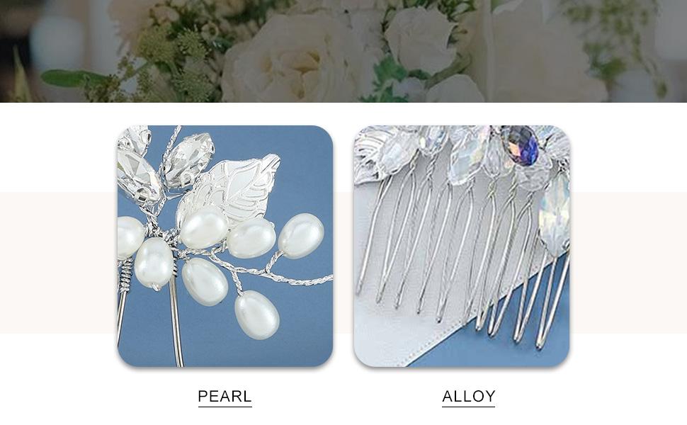 YBSHIN Bride Wedding Silver Hair Pins