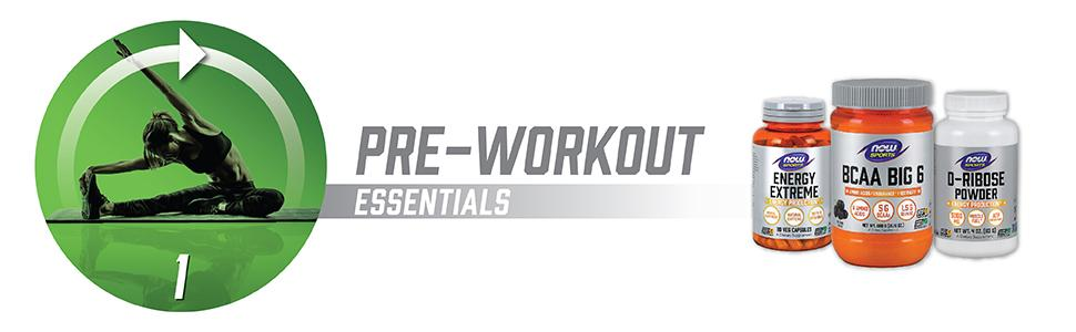 pre workout essentials bcaa energy extreme ribose powder d