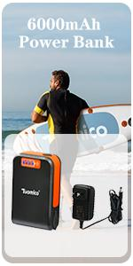 Tuomico 6000mAh lithium battery power bank
