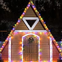 Ollny solar garden light waterproof string fairy light outdoor indoor gazebo patio decoration