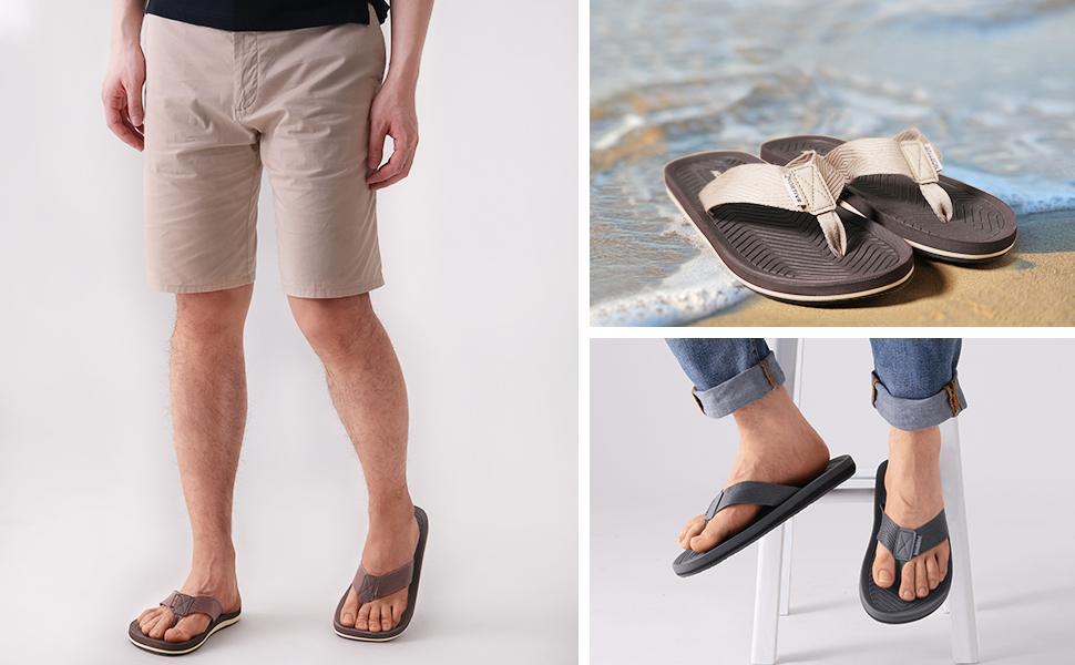 NORTIV 8 Mens Flip Flops Thong Sandals