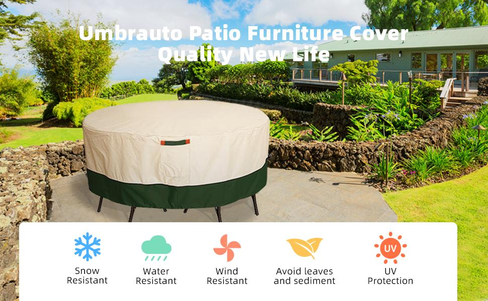 Umbrauto Outdoor Table Round Covers