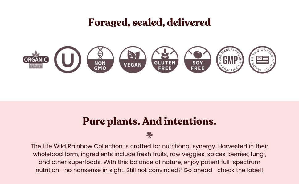 Organic, Non-GMO, Kosher, Vegan, Gluten Free, Soy Free, GMP, Made in USA