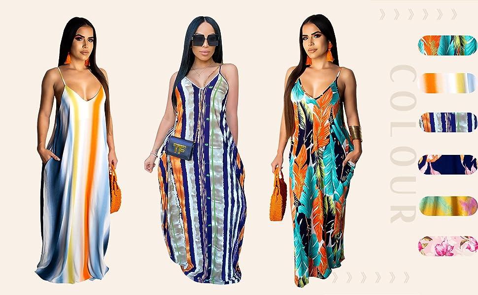 Women's Sexy Summer Plus Size Maxi Dresses