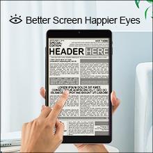 Better Screen Happier Eyes - blue light filter screen