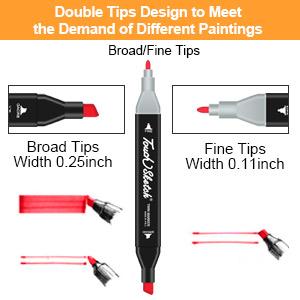 Dual tips