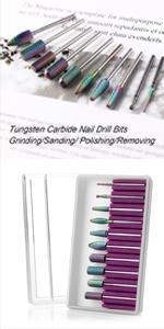 Tungsten Carbide Nail File Bit 10pcs