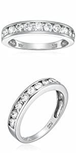 Vir Jewels 1 cttw Classic Diamond Wedding Band 14K White Gold I1-I2 Channel Set