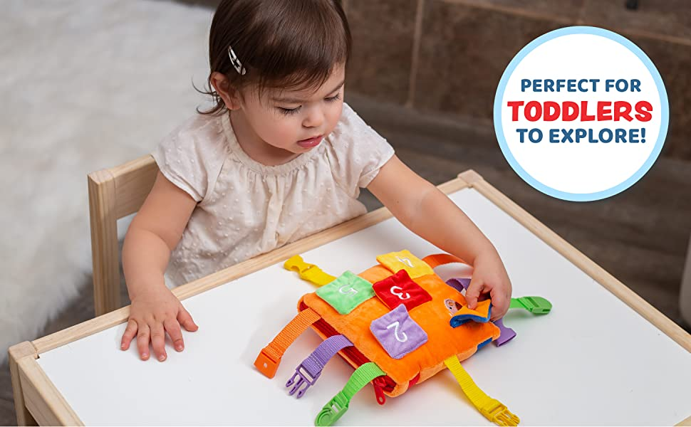 Bizzy Square Buckle Toy, Perfect for toddlers to explore