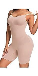fortix Body Shaper for Women Shapewear Tummy Control Thigh Slimmer Butt Lifer Seamless Bodysuit
