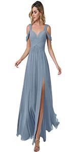 cold shoulder bridesmaid dress