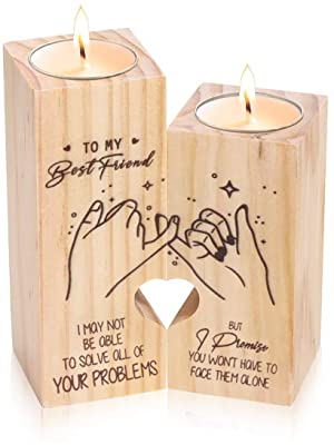 best friend candle holders