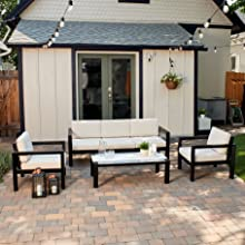 Contemporary Outdoor Seating Set
