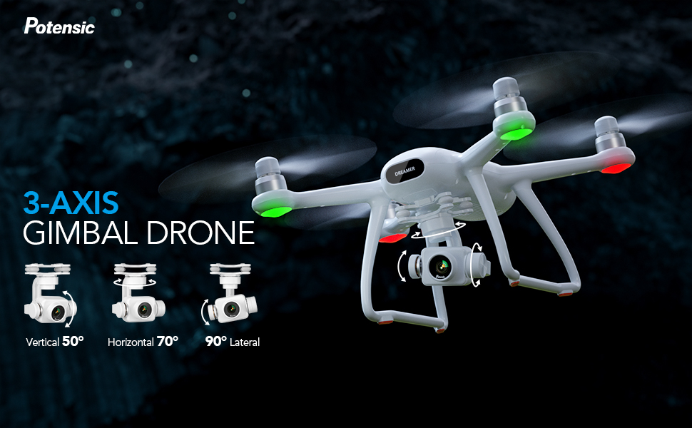 Potensic dreamer pro 3 axis gimbal drone